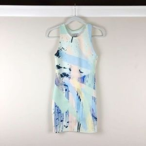 Zara | Trafaluc Paint Print Scuba Bodycon Dress S